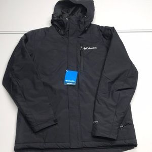 🆕 COLUMBIA Mens Black Insulated Waterproof Coat